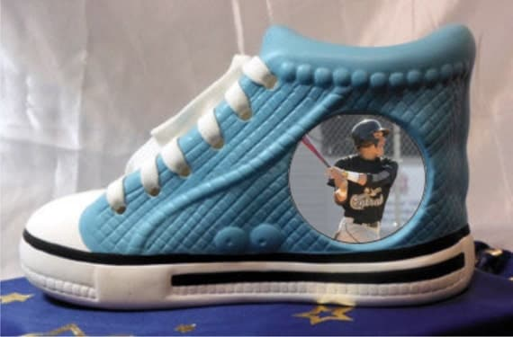 items similar to personalized tennis shoe pencil holder on