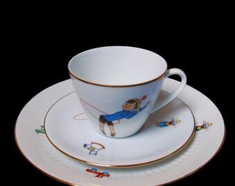 Vintage porcelain breakfast set children - sixties - Scherzer/Seltmann Bavaria - Germany