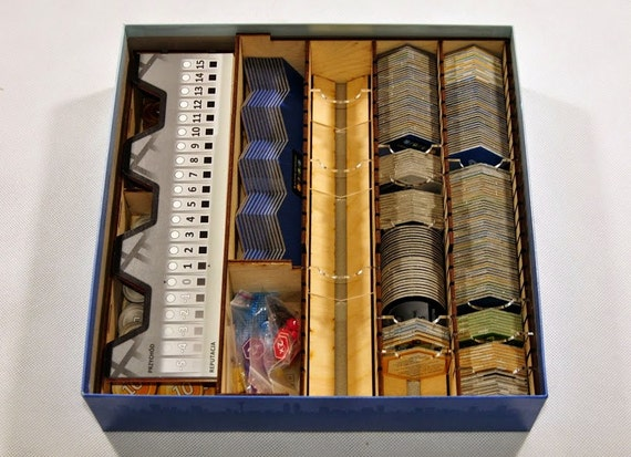 Items similar to suburbia board game wood insert to store for Board game storage solutions