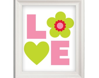 Printable wall Art -Love Downloadable Art Instant Download for Personal Use
