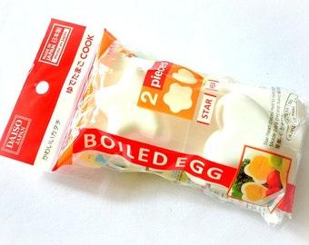 Set of 2 Hard Boiled Egg Mold Maker, Japanese Heart And Star Shaped Egg Molds