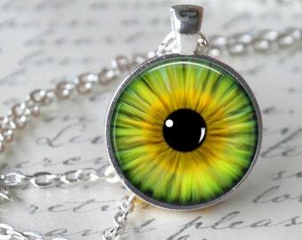 Kaledoiscope Necklace Pendant Eye necklace Handmade Glass Pendant Necklace Jewerly