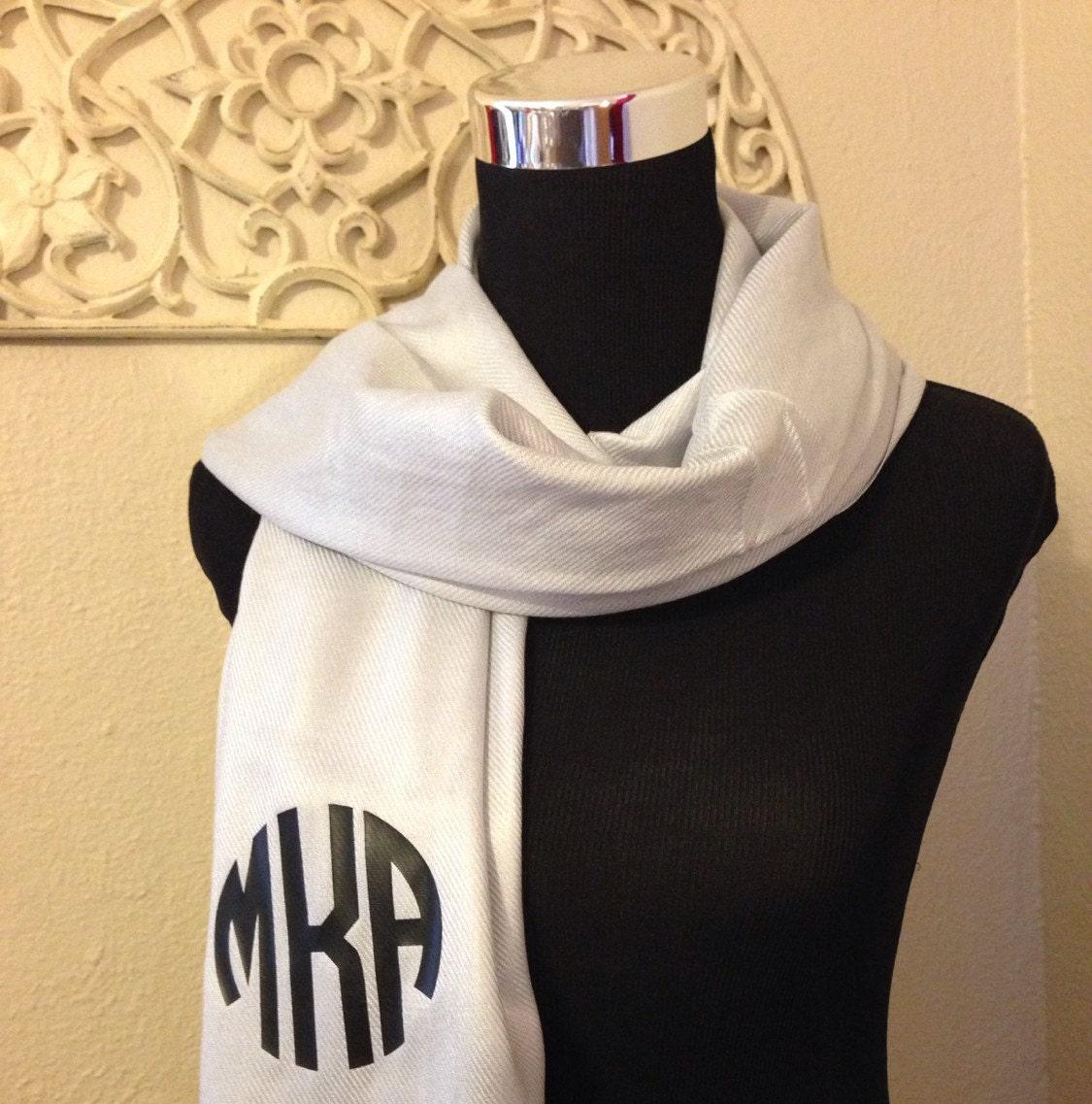 circle monogram pashmina scarf monogrammed gifts for her