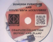 Collection of dungeon furniture/fetish design plans on CDROM, discounted version sell off