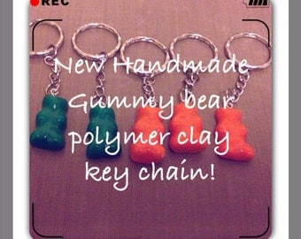 Handmade Polymer Clay Gummy Bears Key Rings