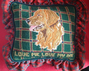 Love me, Love my Dog Needlepoint Decorative Pillows (Labrador)