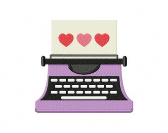 Hearty Typewriter Machine Embroidery Design