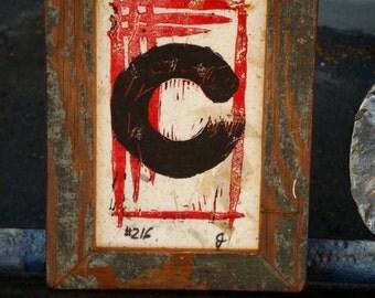 Framed Enso Print