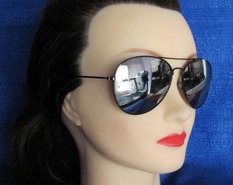 Awesome Black Mirror Aviator Sunglasses