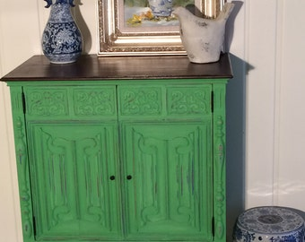 SOLD!!! Green Painted Chest