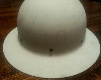 Vintage 1940s Air Raid Warden Helmet - unmarked