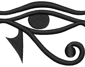 Egyptian Eye Embroidery Design