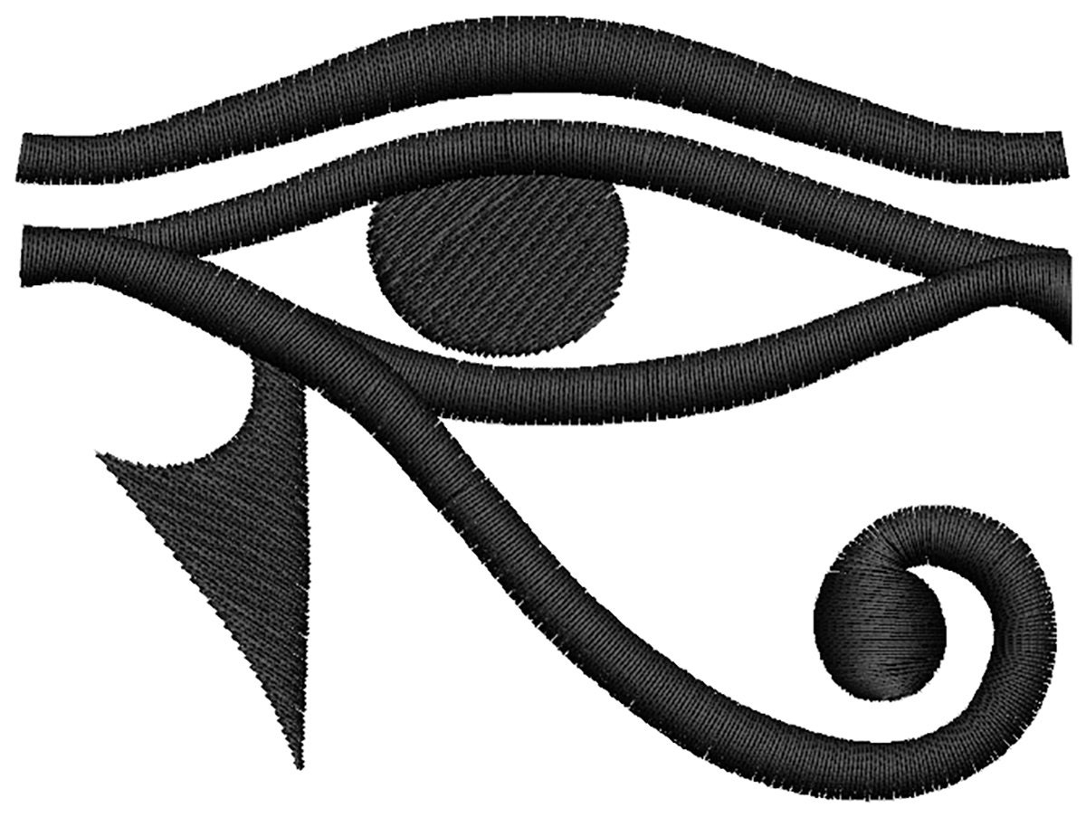 Egyptian eye embroidery design
