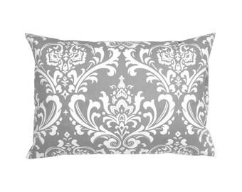 Pillowcase OZBORNE grey white ornament Baroque 40 x 60 cm