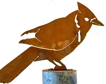 B720 Blue Jay Steel Silhouette with Rusty Patina