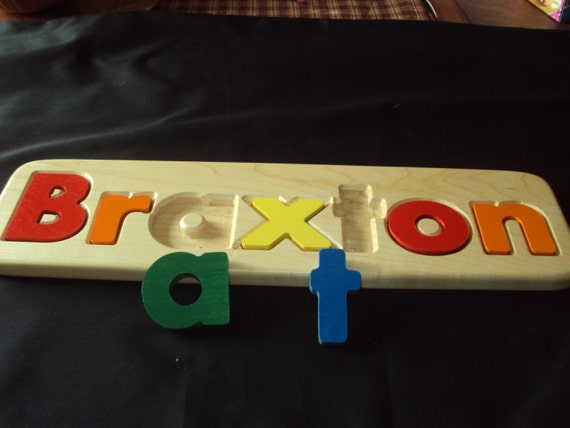 Items Similar To Children Personalized Name Puzzle On Etsy