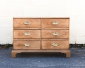 English Pine Apothecary Chest with Brass Bin Pulls