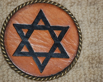 Star Of David Strat  Belt Buckle