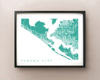 Panama City Map Print - Florida Poster