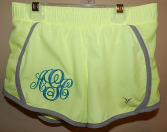 Girls (Youth Size) Monogrammed Running/Athletic Shorts