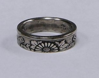 Coin Ring made from JAPAN. 50 yen coin size 4-8