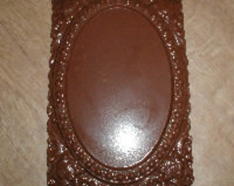 Floral Picture Frame Chocolate Mold