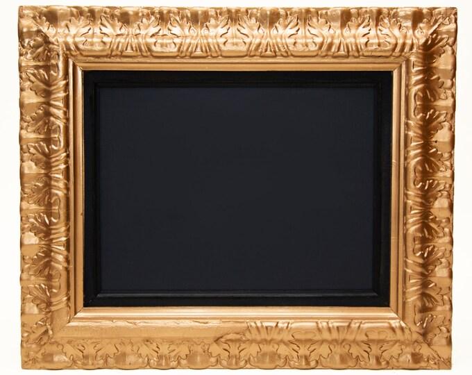 Vintage Framed Chalkboard in Metallic Copper, Silver and Gold / Large Ornate Detailed Frame