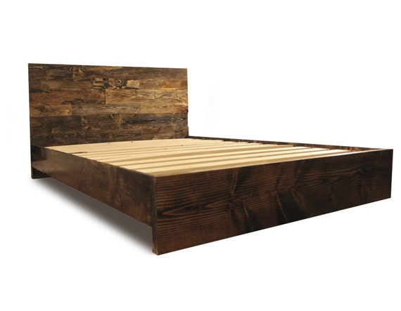 Wooden Platform Bed Frame and Headboard / Modern by ...