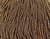 1-6 Strand-13/0 Bronze Terra Metallic Charlottes-Czech Glass Seed Beads-1.7mm-1 Cut-One Cut-True Cut.