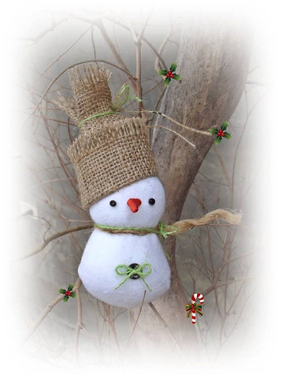 Unique handmade christmas ornaments snowman