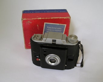 Vintage 50s Ansco Flash Clipper Camera JN 176 in Original Box- Great condition