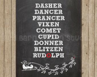 Reindeer Chalkboard- you choose the style!