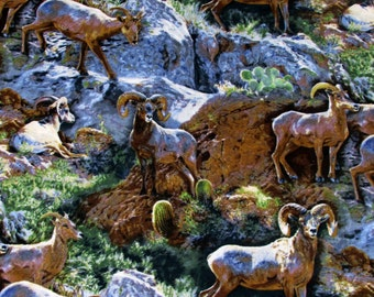Per Yard, Wild Wings Mountain Goats Fabric From Springs Creative