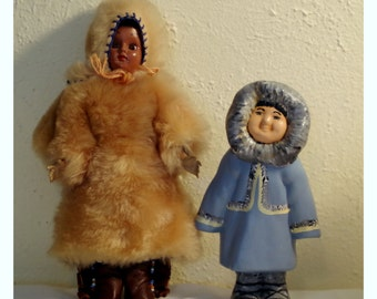Eskimo Dolls LOT figurine