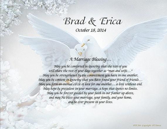 Personalized Wedding Poem Inspirational Print on Choice Background - Marriage Blessing Poem Wedding Gift idea