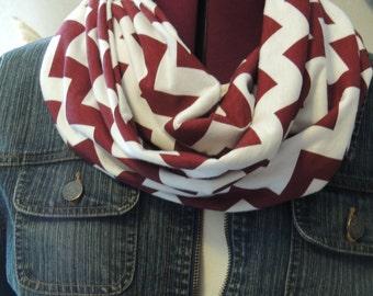 soft knit chevron infinity scarf
