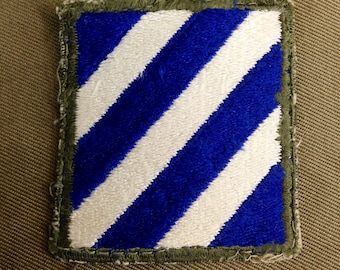 WW2 US Army 3rd Infantry Division Shoulder Patch Excellent Condition