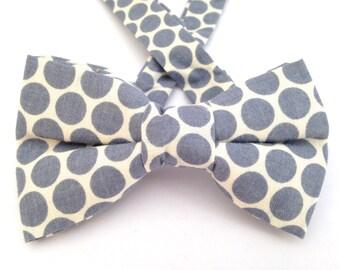 Gray polka dot bow tie. Business bow tie, business tie, gray polka dots tie, polka dot bow tie, bow tie, gray bow tie, gray polka dot.