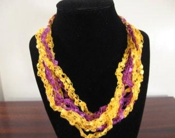 Trellis Necklace / Crochet Necklace Item No. 14