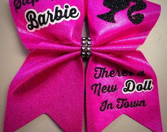 """3"""" Cheer Bow- Step aside Barbie"""