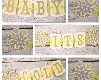 Baby Its Cold Outside Baby Shower Banner, Winter Theme Baby Shower Decoration
