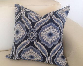 Ikat Cushions Ikat Pillows Jacquard Blue, Yellow, Red, Black or Grey Lounge Pillow, Scatter Cushion. Beach House Cushions.