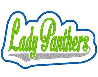 Lady Panthers Headband Slip'em design Instant Download