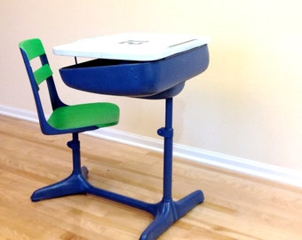 School Desk Chair Combo Seahawks Blue And Green 1950 39 S
