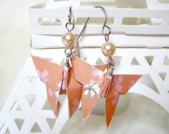 Origami Earrings - Paper Earrings - Butterfly Earrings - Origami Jewelry - Paper Jewelry - gift for her - WY12