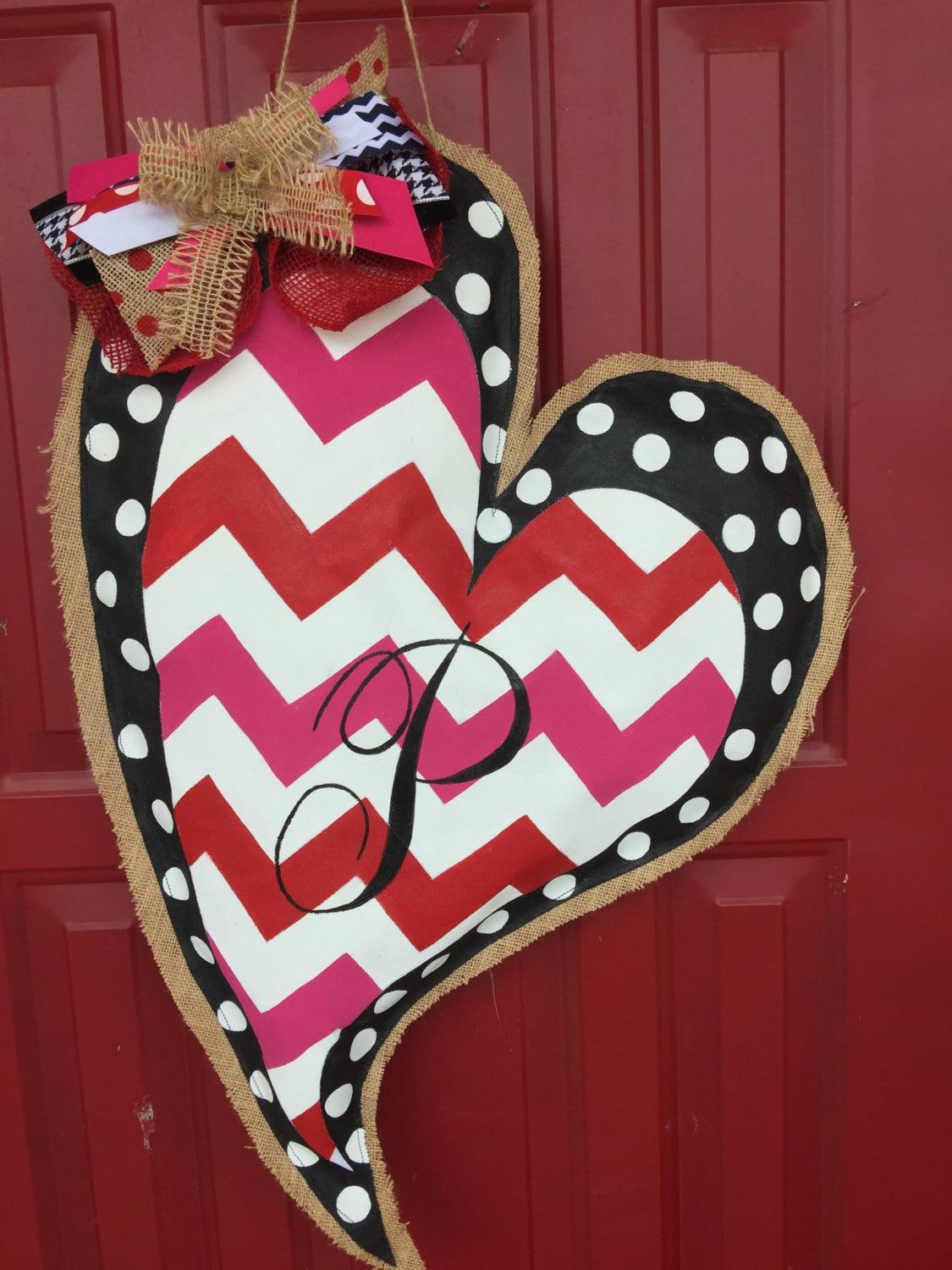 valentines day decor door hanger by tiffinyhdesigns on etsy