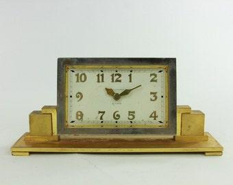 Waltham 8 days-Beautiful Art Deco Clock w/1942 Football Team Dedication-Rare