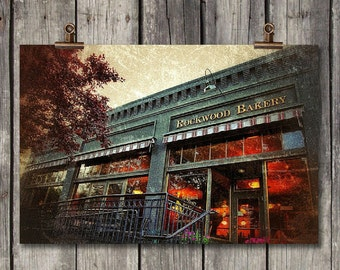 Rockwood Bakery - Coffee Shop Storefront - Spokane, WA - Fine Art Photography Print