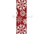 RED WINTER FLAKES  Peyote Bead Pattern-Beaded Peyote Bracelet Cuff Pattern