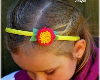 20 % OFF ! SALE! CLEARANCE !Felt  Flower Handmade Headband, Girl's Accessories,  Toddler's Accessories, Girl's Birthday gift, Christmas gift